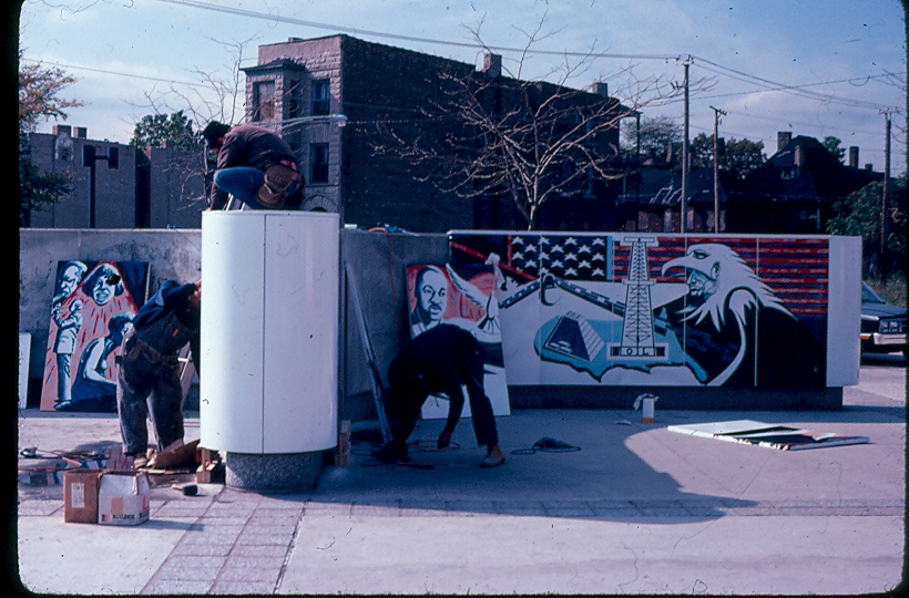 Murals eugene edaw wade for Malcolm x mural